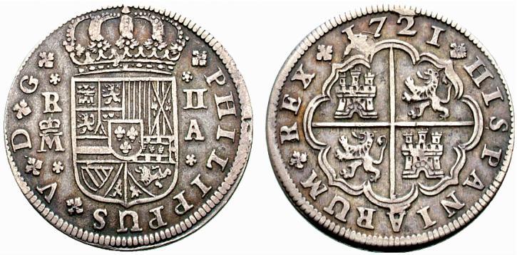 Guía de los reales de a 2, Cecas Peninsulares (1701-1771) - Página 2 Spa444