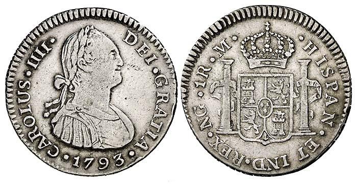 1 Real Carlos IV 1790 Nueva Guatemala Spai1208